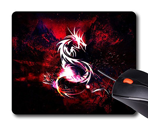 51WDZvFaEqL - Personalized Unique Design Mouse Pad Bloody Red Dragon