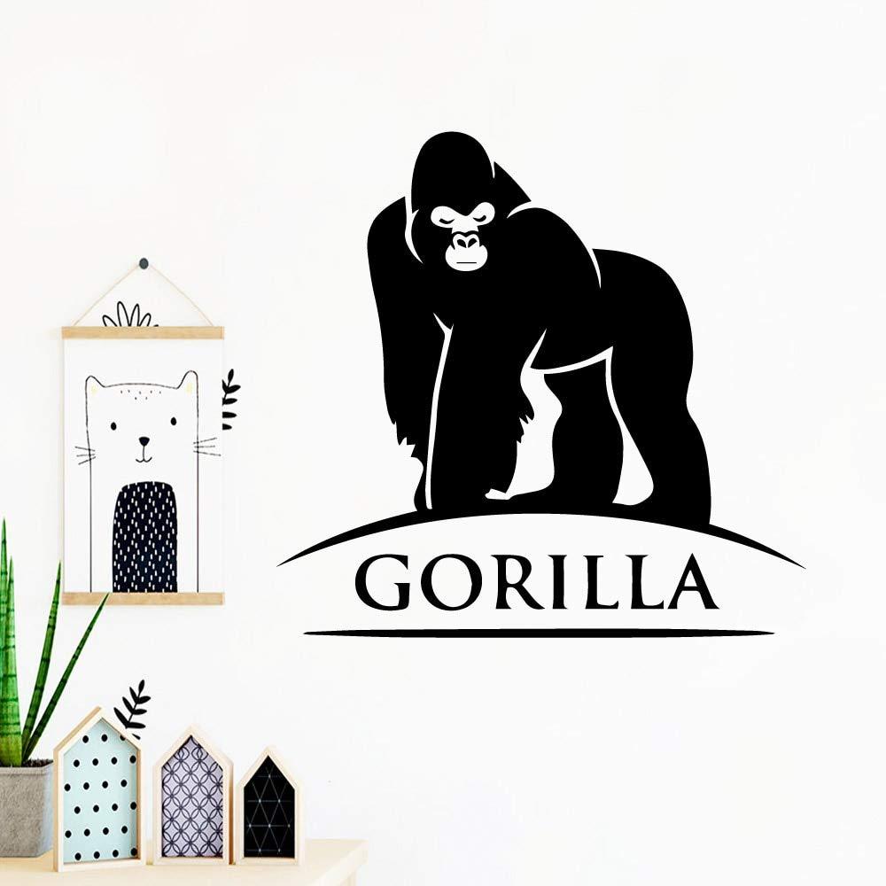 Etiqueta de la Pared del Gorila Arte Vinilo Pegatina habitación de ...