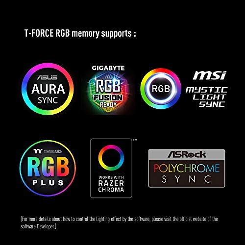 TEAMGROUP T-Force Night Hawk RGB 3600MHz 16GB Kit (2x8GB) CL18 DDR4 SDRAM (PC4-28800) Desktop Memory Module ram TF2D416G3600HC18EDC01 (White)
