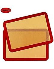 AutoWT Esteras para hornear de silicona Antiadherente, 2 Piezas DIY Pastel de galletas Para hornear Comida Para esteras Almohadillas antideslizante, lavable, reutilizable, resistente al calor, BPA, aprobado por la FDA, Profesional de Grado