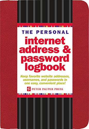 The Personal Internet Address & Password Logbook (Red) (List Of Best Internet Browsers)