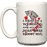 Game of Thrones Wedding - Dire Wolf Bloody Mug - Coffee or Tea Cup 11 / 15 oz by BeeGeeTees® (15 oz)