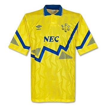 90 – 92 Everton – Camiseta de fútbol para, hombre, amarillo