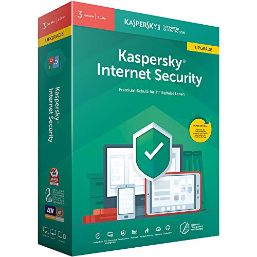 Price comparison product image Kaspersky Internet Security 3 Geräte Upgrade (Code in a Box). Für Windows 7 / 8 / 10 / MAC / Android