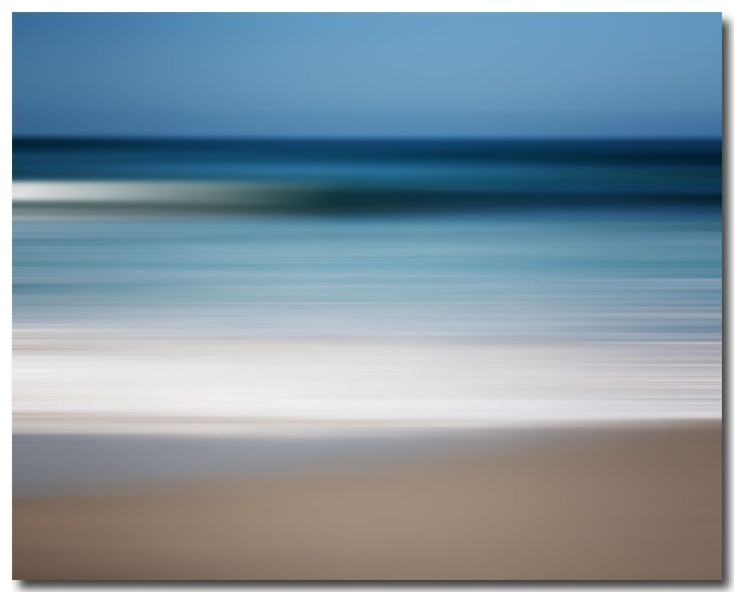 Blue Abstract Wall Art Decor, Beach Photography, Contemporary Artwork,Sapphire Waters. by Lisa Russo Fine Art Photography