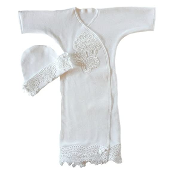 Amazon.com: Jacqui\'s Baby Girls\' Beautiful White Lace Gown: Infant ...