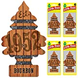Automotive : LITTLE TREES Car Air Freshener | Hanging Tree Provides Long Lasting Scent for Auto or Home | Bourbon, 6 count (Pack of 4)