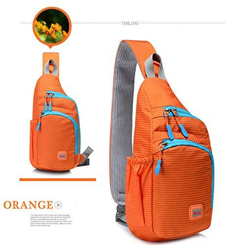 for Crossbody Hiking Daypack Women Cross Resistant School Bag Orange Men Sling Bag Lightweight CATOP Water Body Compact Shoulder RU7qf
