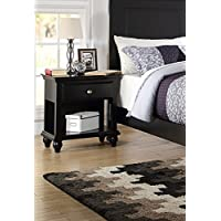 Poundex PDEX-F4359 Nightstand Finish, Black