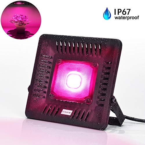 LED Grow Lights for Indoor Plants, Bozily COB 150W Waterproof Grow Lights Full Spectrum Growing Plant Lamp for Outdoor Small Medium Large Plants Seedlings Growing Blooming with Waterproof On Off Switc
