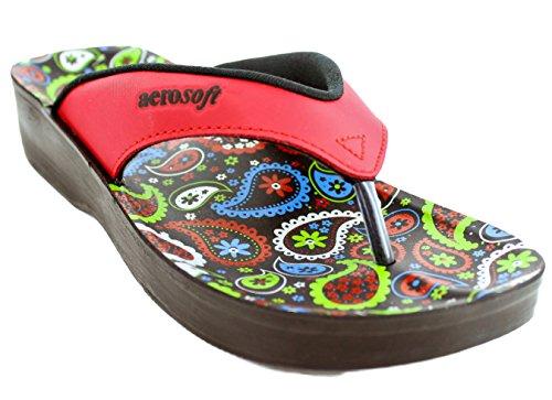 Aerosoft Womens Dojo Sandale Rouge
