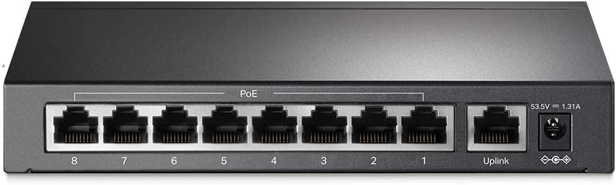 Plug and play No Configuration Required TL-Link TL-SF1009P 9-Port 10//100Mbps Desktop Switch with 8-Port PoE+