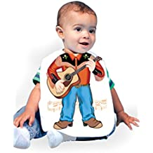 Just Add A Kid Baby Boy's Country Western Boy 255 Baby Bib 0-6 Months White