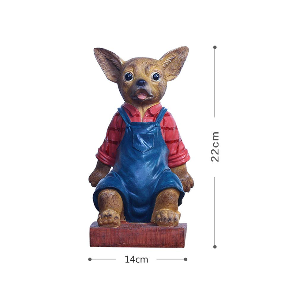 ZPWSNH Chihuahua Door Stop Door Resistance Anti-Collision Free Punching Floor Decoration Creative Cartoon Resin Crafts Book File Book by 14x22cm Bookshelf by ZPWSNH (Image #6)