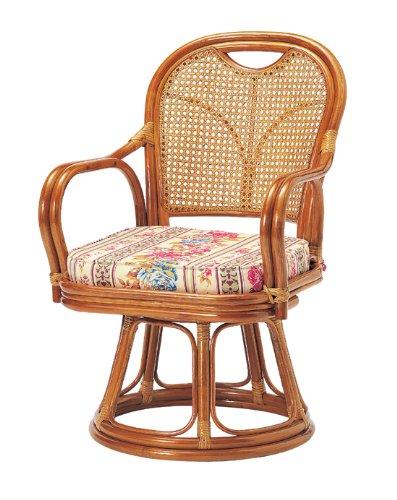koeki ラタン回転椅子 ミドルタイプ(座面高:39cm) R-390S B0083ON5KC