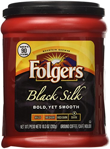 Folgers Black Silk Coffee 10.3 Oz Pack of 4 (Fat Xtreme Carb)