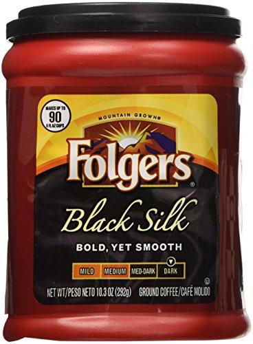 Folgers Black Silk Coffee 10.3 Oz Pack of 4