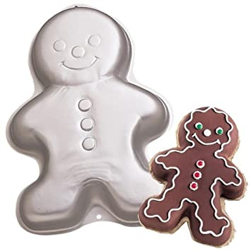 Wilton Gingerbread Boy Ginger Bread Girl Christmas Holiday Snowman Clown Cake Pan Mold 2105-3313, 1998 by Wilton