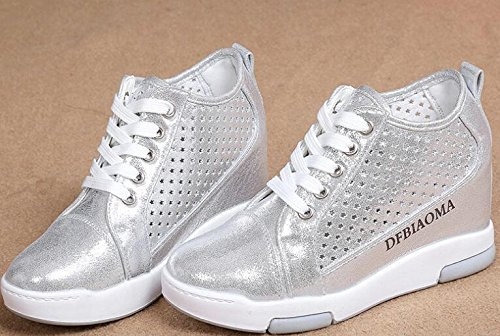 Laruise Women's Heighten Loafer Silver aA5V0fn