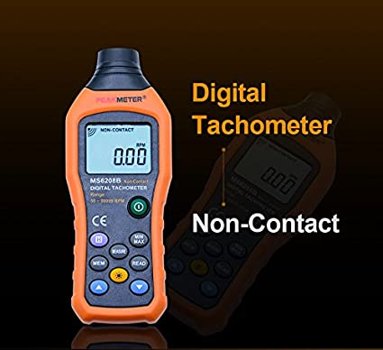 MS6208B 50-250mm Non-Contact Measurement Digital Tachometer