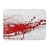 """Emvency Doormats Bath Rugs Outdoor/Indoor Door Mat Blood Paint Splatters Splash Spot Red Stain Blot Patch Liquid Drop Abstract Dirty Mark Bathroom Decor Rug 16"""" x 24"""""""