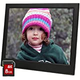 Micca 10-Inch Natural View 1024x768 High Resolution Digital Photo Frame With 8GB Memory Card, Auto On/Off Timer, MP3 and Video Player (Black)