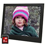 Micca 10-Inch Natural View 1024x768 High Resolution Digital Photo Frame With 8GB Memory Card - Auto On Off Timer - MP3 and Video Player (Black)