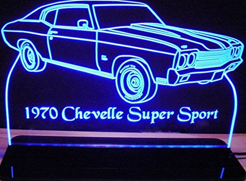 ValleyDesignsND 1970 Chevelle SS Acrylic Lighted Edge Lit 12