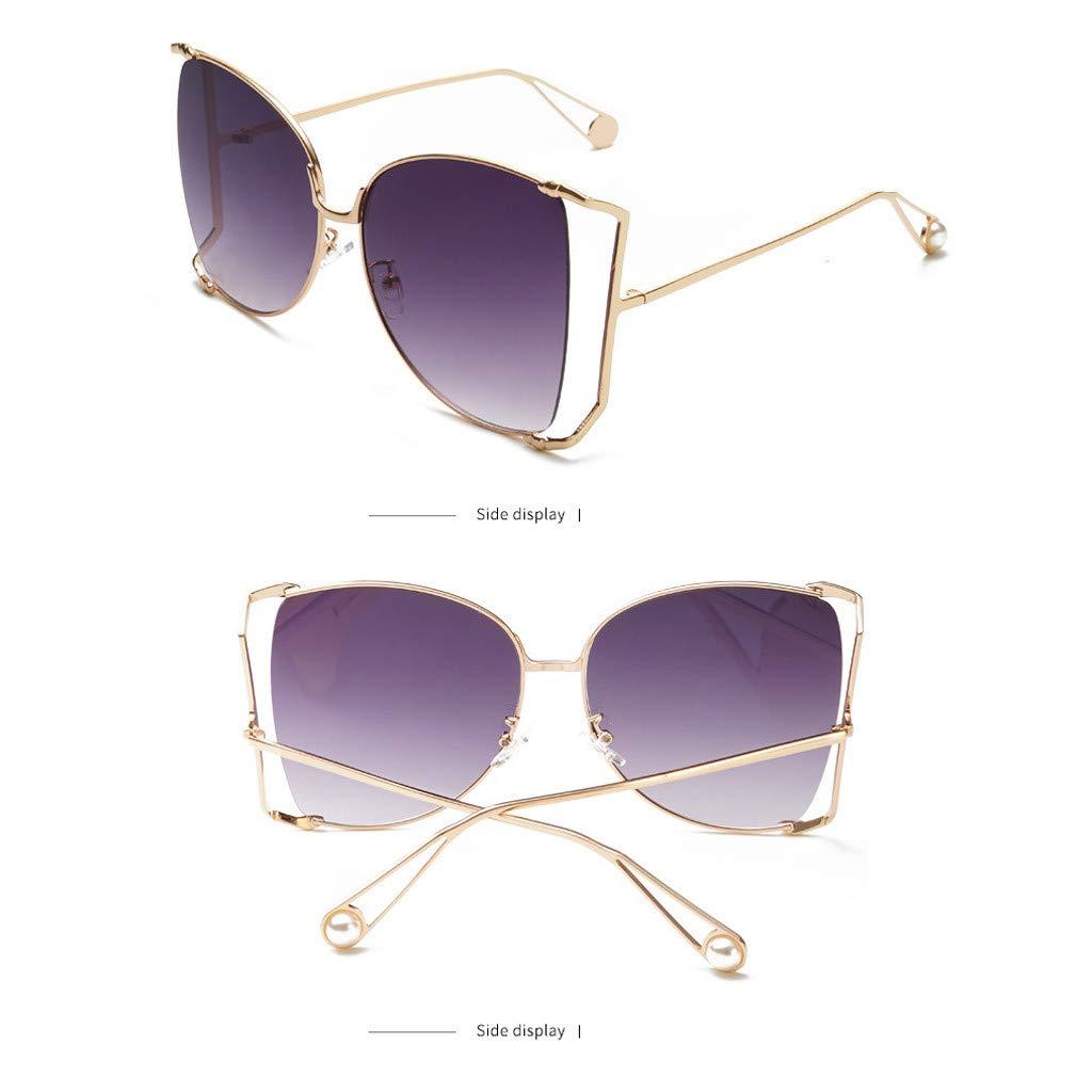 Gergeos Cat Eye Sunglasses for Women Men Fashion Metal Frame Sunglasses UV 400 Non-Polarized
