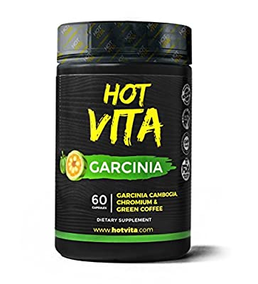 Hot Vita Skinny Supplement – Weight Loss Capsule with Garcinia Cambogia, Green Coffee Bean Extract and Chromium