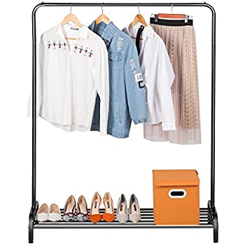 LANGRIA Clothing Garment Rack Heavy Duty Commercial Grade Clothes Stand  Rack With Top Rod And Lower