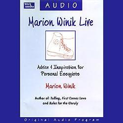 Marion Winik Live
