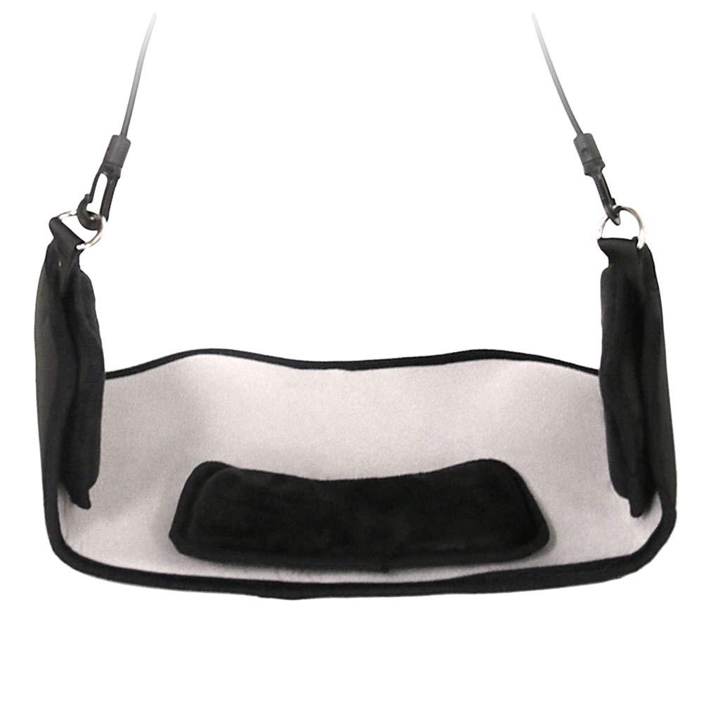 Nero LIOOBO Collo Amaca di Poliestere Portatile trazione cervicale per Testa e Collo Imbracatura di rilassamento Sollievo