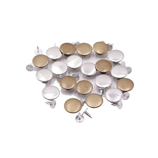 Nuevos al por menor Li 20 piezas Metal Jeans Botones Chaqueta De Repuesto Kit de botones con 20 piezas de remaches y caja de almacenaje, ...
