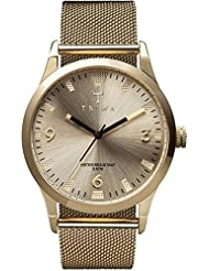 Triwa Unisex LAST114 Sort of Black Gold Watch with Gold Mesh Steel Band