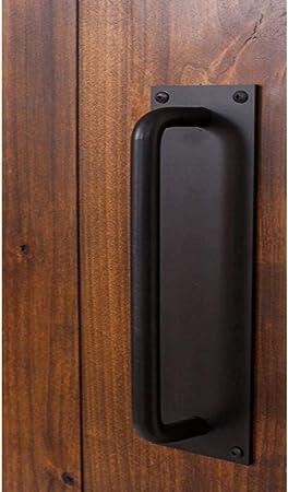 Caishuirong Manija de la Puerta Estilo de la Industria Puerta de Granero de Hierro Tirador Manija Puerta corrediza Hardware Fácil de Instalar Apto para Uso Interior o al Aire Libre: Amazon.es: Hogar