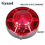 Gyand Red Color Road Flares Roadside Flashing Emergency LED Lights Beacon with Magnetic Base for Car (Pack of 2)