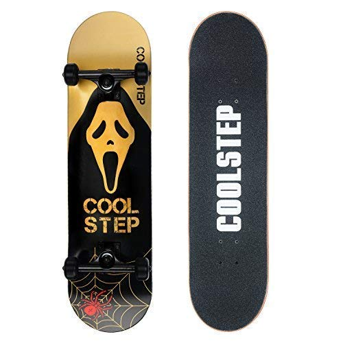 Coolstep Pro Skateboard 8-inch Full Complete for Trick Beginners, Cool Design ()