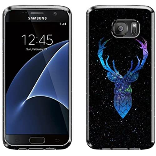 NextKin Samsung Galaxy S7 G930 Case, Flexible Slim Silicone TPU Skin Gel Soft Protector Cover - Abstract Deer Galaxy Sales