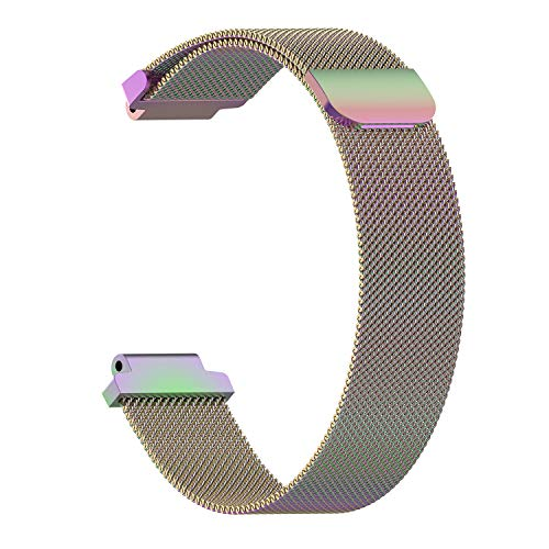 Magnetic Ring Bracelet for Garmin Forerunner 220 230 235 630 620 735 235 Approach S20 S5 S6 Watch Strap Watchband Milanese Band(S,Colorful)