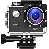 Victure Action Camera WiFi 1080P Waterproof Sports Camera 30M Underwater Diving Camera Action Cam with 170 Wide Angle and Multiple Accessories