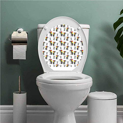 Dale Earnhardt Seat Covers - SCOCICI1588 Apple Vinyl Carving Decal Sticker Funny Cartoon Hedgehog and Mouse Carrying Apples Happy and Playful Kids Design Toilet Seat Sticker Bathroom Decor Grey Red Yellow W13XL18 INCH