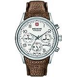 Swiss Military Hanowa Reloj Cronógrafo para Hombre de Cuarzo con Correa en Cuero SM06-4278-04-001-05