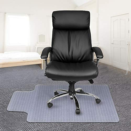 Kuyal Office Chair Mat for Carpets,Transparent Thick and Sturdy Highly Premium Quality Floor Mats for Low and Medium Pile Carpets, with Studs (30 X 48 with Lip)