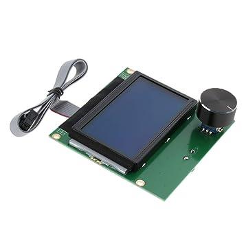 perfk Pantalla LCD con Cable Plano de Impresora 3D Electrónica de ...