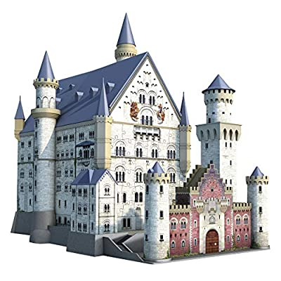 Ravensburger Neuschwanstein 216 Piece 3D Jigsaw Puzzle for Kids and Adults - Easy Click Technology Means Pieces Fit Together Perfectly: Varios: Toys & Games