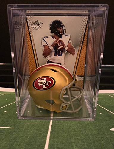 San Francisco 49Ers Nfl Helmet Mini Shadowbox W  Jimmy Garoppolo Card