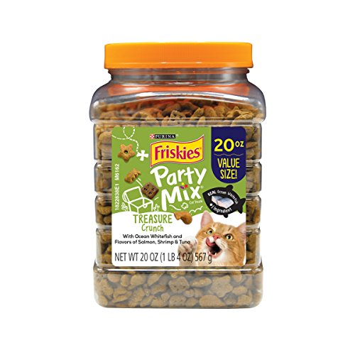 Purina Friskies Party Mix Treasure Crunch Adult Cat Treats - 20 Oz. Canister