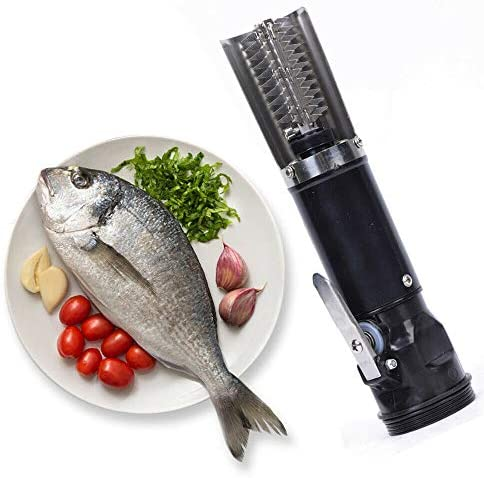Electric Fish Scaler Remover, Cordless Waterproof Fish Scaler Scale Scraper Remover Cleaner Skinner Stainless Steel Blade Rechargeable Tools - US Shipping