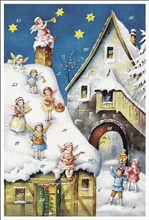 Weihnachtsgrüße Christkind.Weihnachtskarte Weihnachten Heiliger Abend X Mas Christkind Karte
